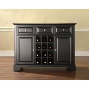 Crosley LaFayette Buffet Server / Sideboard Cabinet with Wine Storage in Black Finish (KF42001BBK)