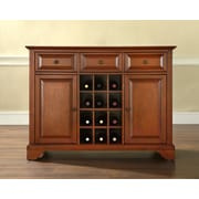 Crosley LaFayette Buffet Server / Sideboard Cabinet with Wine Storage in Classic Cherry Finish (KF42001BCH)