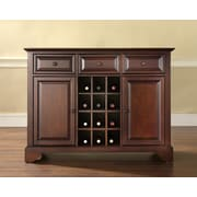 Crosley LaFayette Buffet Server / Sideboard Cabinet with Wine Storage in Vintage Mahogany Finish (KF42001BMA)