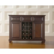 Crosley Cambridge Buffet Server / Sideboard Cabinet with Wine Storage in Vintage Mahogany Finish (KF42001DMA)