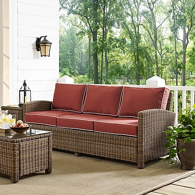 Crosley Bradenton Sofa With Sangria Cushions (KO70049WB-SG)