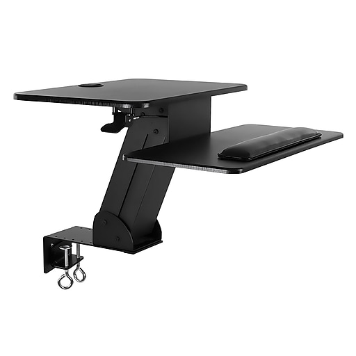 buy online 102bd 268c5 Mount-It! Sit Stand Desk Converter, Height Adjustable Standing Desk, 23.5