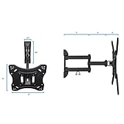 """Mount-It! TV Wall Mount Monitor Bracket with Full Motion Articulating Tilt Arm for 28"""" to 55"""" Flat Screens (MI-4110)"""