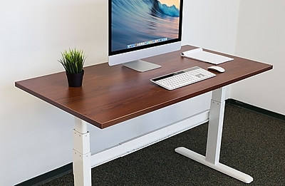 Mount-It! Table Top For Sit Stand Desk - 29 x 59 Inches - Nut Brown (MI-7937)