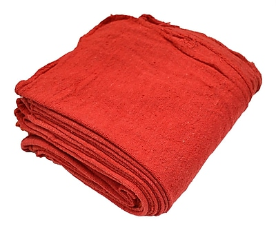 Pro-Clean Basics Bulk Shop Towels, 100-Pack, Red (A21825)