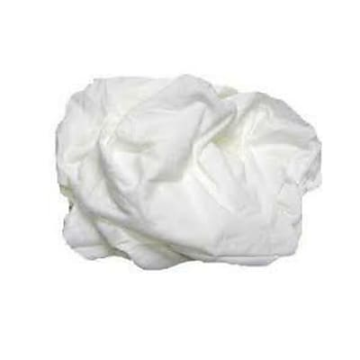 Pro-Clean Basics White T-Shirt Rags Pallet, 630 lbs. or 42 15 lb. Cartons, White (A99408)