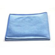 "Pro-Clean Basics Microfiber Glass Cleaning Cloth, 16"" x 16"", 48-Pack, Blue (A73110)"