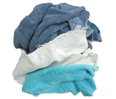 Pro-Clean Basics Terry Cloth Rags Pallet, 630 lbs. or 42 15 lb. Cartons, Assorted Colors (A99403)