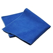 "Pro-Clean Basics Microfiber Suede Polishing Cloth Pallet, 16"" x 16"", 3240 Towels or 270 12-Packs, Blue (A73122)"
