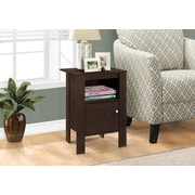 Monarch Specialties Accent Table, Night Stand With Storage, Cappuccino (I 2135)