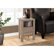 Monarch Specialties Accent Table, Night Stand With Storage, Dark Taupe (I 2136)