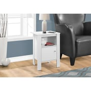 Monarch Specialties Accent Table, Night Stand With Storage, White (I 2137)