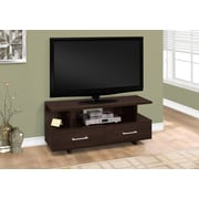 "Monarch Specialties TV Stand, 48""L  Cappuccino with 2 Storage Drawers (I 2606)"