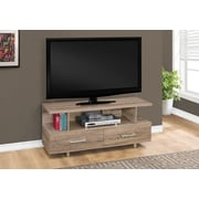 "Monarch Specialties TV Stand, 48""L  Dark Taupe with 2 Storage Drawers (I 2607)"