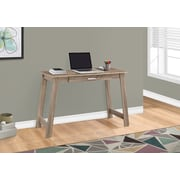 "Monarch Specialties 42"" Long Computer Desk With Storage Drawer, Dark Taupe (I 7191)"
