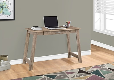 """Monarch Specialties 42"""" Long Computer Desk With Storage Drawer, Dark Taupe (I 7191)"""