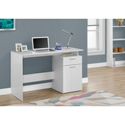 "Monarch Specialties 46"" Long Computer Desk With Storage Drawers, White (I 7358)"