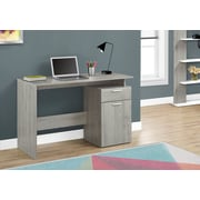 """Monarch Specialties 46"""" Long Computer Desk With Storage Drawers, Grey (I 7359)"""