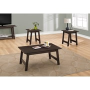 Monarch Specialties Table Set, 3 Piece Set, Cappuccino (I 7930P)