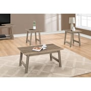 Monarch Specialties Table Set, 3 Piece Set, Dark Taupe (I 7931P)