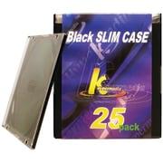 KHypermedia K-CDPSSBK-25P Slim Jewel Cases, 25 pk (HOOKCDPSSBK25PD)
