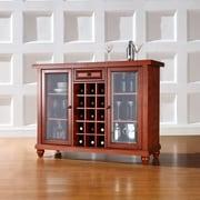 Crosley Cambridge Sliding Top Bar Cabinet in Classic Cherry Finish (KF40002DCH)