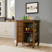 Crosley Sienna Kitchen Cart in Moroccan Pine (CF3015-MP)