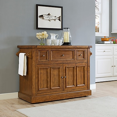 Crosley Sienna Large Kitchen Island in Moroccan Pine (KF30055MP)