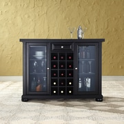 Crosley Alexandria Sliding Top Bar Cabinet in Black Finish (KF40002ABK)