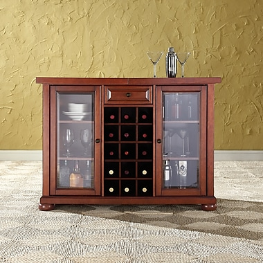 Crosley Alexandria Sliding Top Bar Cabinet in Classic Cherry Finish (KF40002ACH)