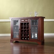 Crosley LaFayette Sliding Top Bar Cabinet in Vintage Mahogany Finish (KF40002BMA)