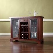 Crosley LaFayette Sliding Top Bar Cabinet in Vintage Mahogany Finish (KF40002BMA)
