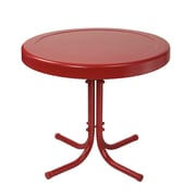 Crosley Retro Metal Side Table In Coral Red (CO1011A-RE)
