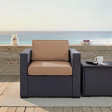 Crosley Biscayne Armchair With Mocha Cushions (KO70130BR-MO)