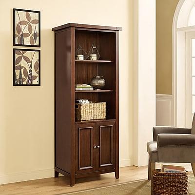 Crosley Sienna Bookcase in Rustic Mahogany (CF1108-RM)