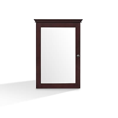 Crosley Lydia Mirrored Wall Cabinet in Espresso (CF7005-ES)
