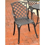 Crosley Sedona Cast Aluminum High Back Arm Chair in Charcoal Black Finish (Set of 2) (CO6102-BK)