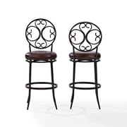 Crosley Arbor Swivel Bar Stool in Aged Bronze with Brown Cushion (CF520430AB-BR)