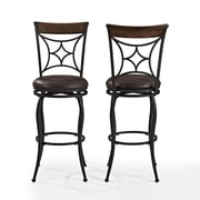 Crosley Kayden Bar Stool in Black with Dark Carmel Cushion (CF520630BK-DC)