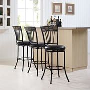 Crosley Templeton Swivel Bar Stool in Black Gold with Black Cushion (CF520830BG-BK)