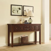 Crosley Sienna Entryway Table In Rustic Mahogany (CF6007-RM)