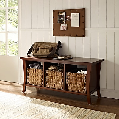 Crosley Wallis Entryway Storage Bench In Mahogany (CF6002-MA)