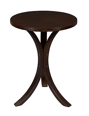 Regency Seating Niche Mia Bentwood Side Table, Mocha Walnut (2018MWMW)