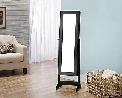 FirsTime Cheval Free Standing Jewelry Armoire, Black (JAFS2-BLACK)
