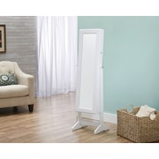 FirsTime Cheval Free Standing Jewelry Armoire, White (JAFS2-WHITE)