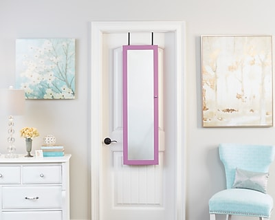 FirsTime Mirrored Jewelry Armoire, Purple (JAOTDS-PURPLE)