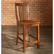Crosley School House Bar Stool in Classic Cherry Finish with 24 Inch Seat Height. (Set of Two) (CF500324-CH)
