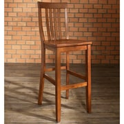 Crosley School House Bar Stool in Classic Cherry Finish with 30 Inch Seat Height.  (Set of Two) (CF500330-CH)