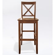 Crosley X-Back Bar Stool in Classic Cherry Finish with 30 Inch Seat Height.   (Set of Two) (CF500430-CH)