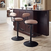 Crosley Jasper Swivel Counter Stool in Black with Brown Cushion (CF521026BK-BR)